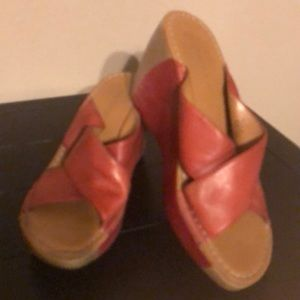 Nine West Red Wedge Size 7